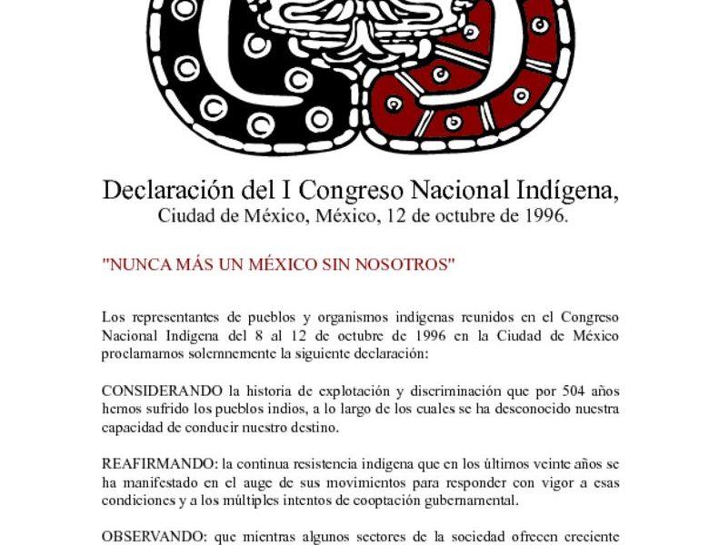 thumbnail of 1. Declaracion del I Congreso Nacional Indigena