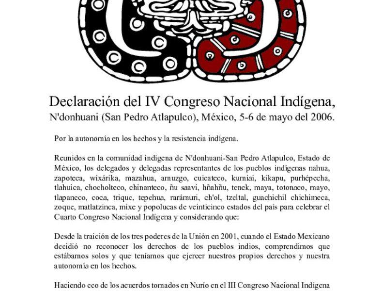 thumbnail of 7. Declaracion del IV CNI