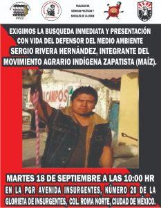 Se cumplen 10 meses de la desaparición del indígena Sergio Rivera