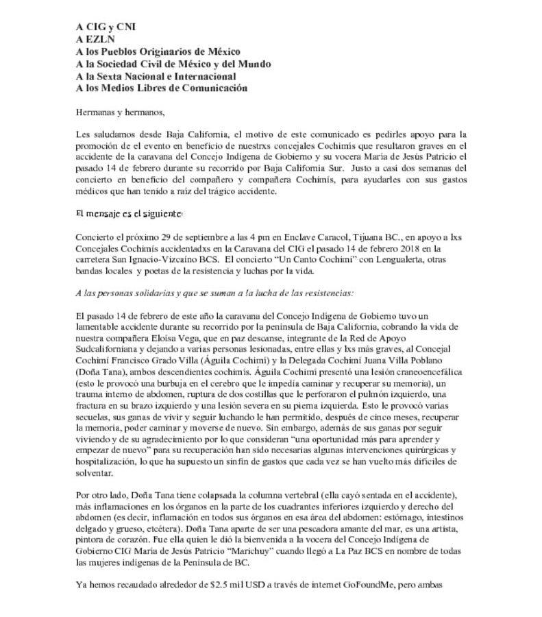 thumbnail of Comunicado_A CIG y CNI