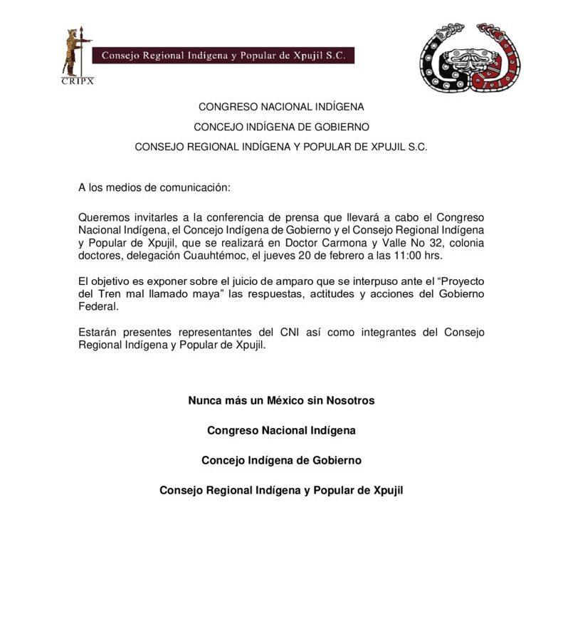 thumbnail of Conferencia de Prensa 20 de febrero